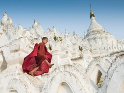 Young Monk in Minguin, Myanmar