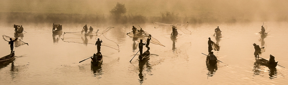 Fishermen in the Mist - Myanmar