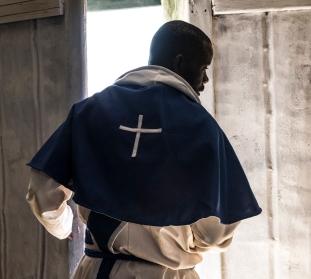 Priest at Door - Namibia