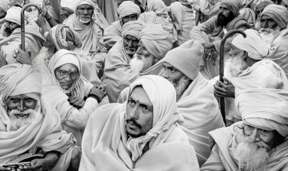 Pilgrims Waiting - Kumbh Mela