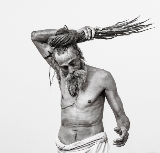 Sadhu Bathing - Kumbh Mela